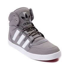Shop for Mens adidas Dropstep Athletic Shoe in Gray White at Journeys Shoes. Shop today for the hottest brands in mens shoes and womens shoes at Journeys.com.Pull off your drop-step with power and accuracy as you go up strong to the basket in the stylish and unstoppable Dropstep from adidas. Available only at Journeys, this exclusive edition Dropstep high top features a gray leather upper, patent accenting, high padded collar with breathable perforations, and durable rubber outsole with ...