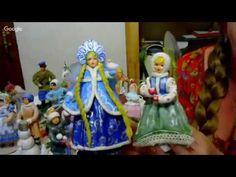 Елена Васько. панно новогодняя ночь - вата как объемный элемент - YouTube