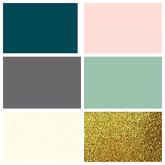Perfect house colours- Pantone deep teal, alloy, ivory, blush, dusty jade, gold