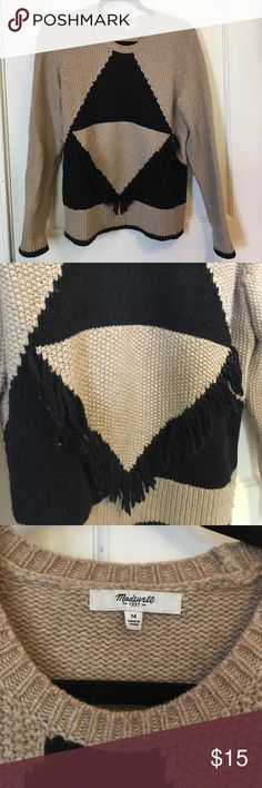 Madewell fringe extra soft sweater Spring cleaning! A really pretty madewell sweater. Size medium. It is worn and there is some visible pilling which can be easily removed. Prices low due to this. Madewell Sweaters Crew & Scoop Necks