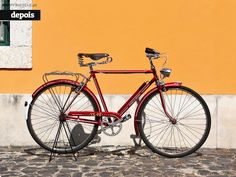 This 1977 Yé-Yé Esmalina Steel Bike came to us to be completely restored after a few messages exchanged with Mark – a Portuguese-descendant American who discove Bicycle Store, Bike, Vintage Bicycles, Restoration, Steel, Retro, Happy, Beautiful, Instagram