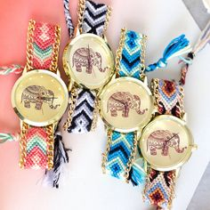 elephant friendship bracelet watch by junk jewels | notonthehighstreet.com