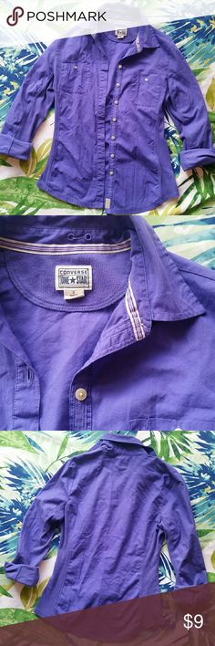 Purple Button Down Long Sleeve Sz S Lightly worn. No flaws. Sz Small Converse Tops Button Down Shirts