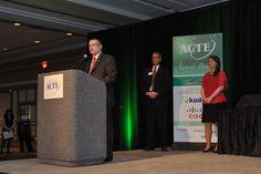 Scott Vandever presents remarks on behalf of Kuder, Inc., sponsor of the ACTE Career Guidance Award.