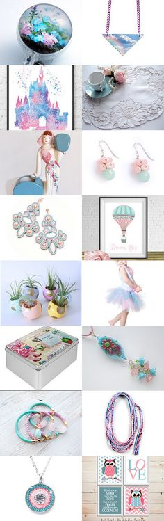Pastel-colored! by Natasha on Etsy--Pinned with TreasuryPin.com