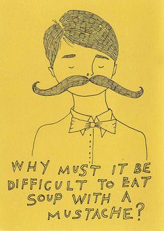 Moustache: Moustache drawings.