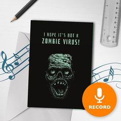 1f5c35a2 Funny Gift Well Gift With Music | Get Well Soon Zombie Card, Zombie Musical  Greeting Card, Feel Bett