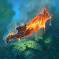 Weapon _ Molten Blade #Hearthstone #Weapon #illustration