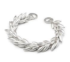 White Sterling Silver Matte Round Wheat Bracelet Length 7 | Silver Bracelets from Studio 2015 | Woodstock, IL