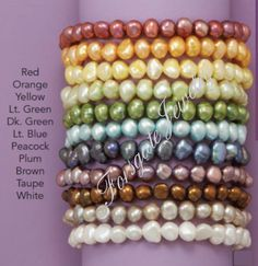 Cultured Freshwater Pearl Stretch Bracelets by ForsgateJewelry