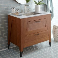 Bamboo Bath Vanities - Native Trails - Trinidad Vanity available through Salon Blue Ridge, NC