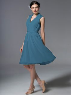 Pin to Win a Wedding Gown or 5 Bridesmaid Dresses! Simply pin your favorite dresses on www.forherandforhim.com to join the contest!   Chiffon and Lace Pleated Dress £110.80