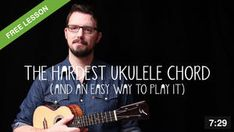 The easier way to play the hardest ukulele chord Ukulele Chords Easy, Cool Ukulele, Ukulele Songs, Hawaiian Legends, Souvenir Store, Dancing Dolls, Hula Dancers, Music Education, First Love