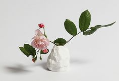 A small vase from the Crockery Collection. A fine bone china tableware collection by our friend Max Lamb. Small Vases With Flowers, Flower Vases, Flower Pots, Flower Arrangements, Gift Maker, Irish Design, Pottery Making, Flower Fashion, Ikebana