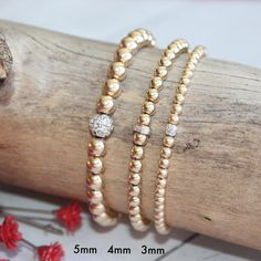 Gold Filled Bead Ball Bracelets, Gold Filled Jewelry, Silver Bracelets, Stacking Stretch Bracelets, for men and women Silver Bracelets, Bracelets For Men, Beaded Bracelets, Bangles, Gold Beads, Crystal Beads, Gold Filled Jewelry, Jewelry Box, Thing 1