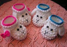 Booties Lamb - Baby Patterns | Baby Patterns