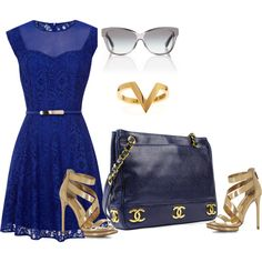 """""""Monaco Blue"""" by tonnie-1 on Polyvore"""