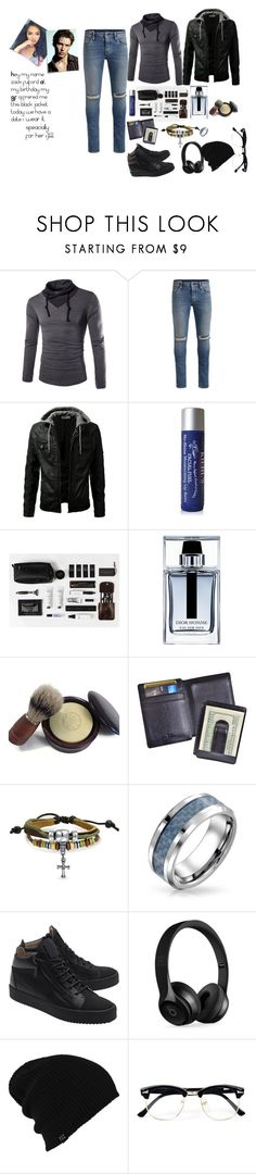 """zack"" by firdawskone on Polyvore featuring Post-It, Jack & Jones, Kiehl's, Christian Dior, Royce Leather, Bling Jewelry, Giuseppe Zanotti, Beats by Dr. Dre, Burton and Topman"