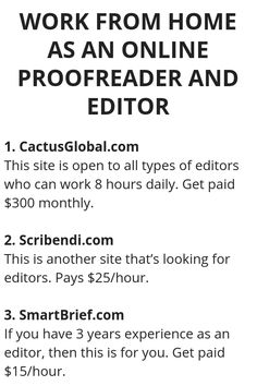 Work From Home As An Online Proofreader And Editor - Wisdom Lives Here Ways To Earn Money, Earn Money From Home, Way To Make Money, Legit Work From Home, Work From Home Jobs, Proofreader, Work From Home Opportunities, Online Work, Extra Money