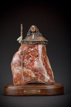 This awesome stone carving is by artist Mike Greenfield and will be for sale at  Give from the heart, a fine art show at the Walter Art Gallery in Scottsdale on November 7 at 7pm. http://fromtheheart.splashthat.com/