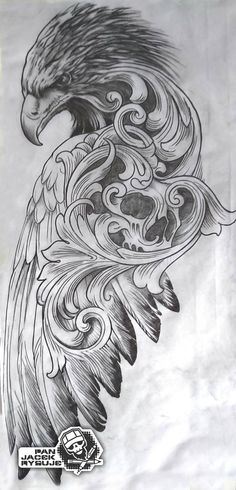 by PanJacekRysuje on DeviantArt tattoo tattoo tattoo design tattoo tattoo tattoo bird tattoo Eagle Tattoos, Skull Tattoos, Animal Tattoos, Body Art Tattoos, Hand Tattoos, Tattoo Design Drawings, Tattoo Sleeve Designs, Tattoo Sketches, Sleeve Tattoos