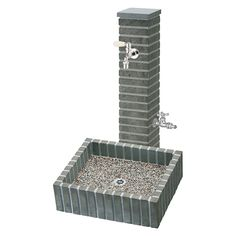 famitei(ファミリー庭園ネットショップ)-Goodies from Japan Outdoor Toilet, Outdoor Sinks, Gabion Fence, Gabion Wall, Water Tap, Water Pipes, Landscape Drainage, Exterior Wall Design, Garden Sink