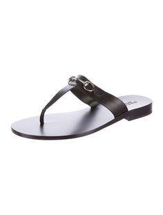 Horsebit Thong Sandals w/ Tags
