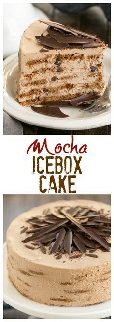 Mocha Chocolate Chip Cookie Icebox Cake   A no-bake dessert that will make you swoon!! #nobake #iceboxcake #mocha #dessert