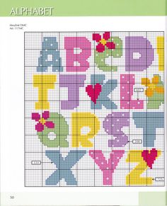 Block letter alphabet cross stitch 1