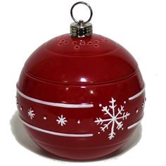 Yankee Candle Red White Snowflakes Ornament Electric Tart Burner Wax Warmer #YankeeCandle #ChristmasTreeonOrnament