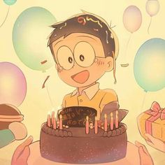 Doraemon Wallpapers, Cute Cartoon Wallpapers, Doraemon Stand By Me, Manga Anime, Anime Art, Doraemon Cartoon, Lord Shiva Painting, Cartoon Quotes, Very Happy Birthday