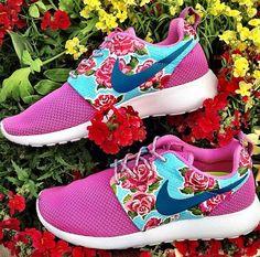 Customized Rosy Nike Roshe Runs by Artsysole45 on Etsy, $159.00