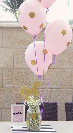 Flowers Birthday Cake For Girls Dessert Tables Ideas - Pink Birthday Cake Ideen Unicorn Themed Birthday Party, Horse Birthday, Unicorn Party, Birthday Party Themes, Birthday Cake, Birthday Ideas, 10th Birthday, Birthday Party Centerpieces, Party Table Decorations