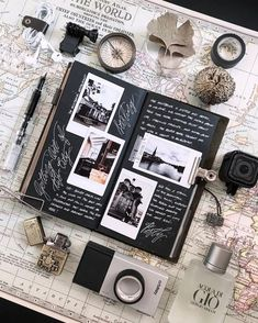 Trendy Creative Art Journal Pages Smash Book Ideas Album Journal, Scrapbook Journal, Travel Scrapbook, Journal Pages, Trip Journal, Diy Scrapbook, Journal Ideas Smash Book, Photo Journal, Photo Album Scrapbooking