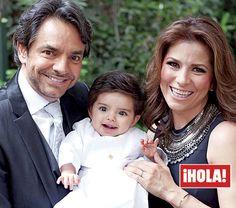 En ¡HOLA!: Eugenio Derbez y Alessandra Rosaldo nos invitan al bautizo de Aitana