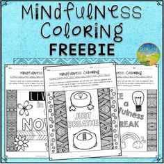 Use these free coloring pages to help kids and young adults practice mindfulness to help promote happiness, attention, and emotional control.