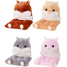 """- Material: Made of short plush, very soft - Colors: Dark brown/Light brown/Grey/Pink - Size reference: - Height: 90cm/35.43"""" - Width: 45cm/17.72"""" - Hey, do you love hamster backpack? Here for you - We also have hamster keychain. Here we go - Shipping: Free Shipping Worldwide for order over 15$, 7-15 days delivery to US/UK/CA/AU/FR/DE/IT and most Asia Countries"""