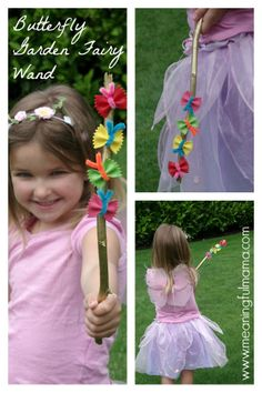 Butterfly Garden Fairy Wands from Pasta - Meaningful Mama