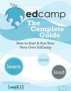 This is the book that tells how to do what we do, unconference. Give teachers a voice, share knowledge, learn from each other. Problem Based Learning, School Leadership, I School, School Stuff, Elementary Library, Teacher Inspiration, Blended Learning, Professional Development, Educational Technology