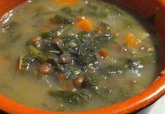 Zuppa lenticchie e cime di rapa
