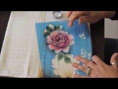 Pintura em tecido com stencil parte2 - YouTube                                                                                                                                                                                 Más