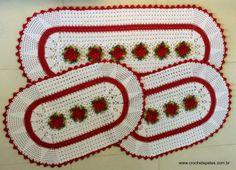 Tapete oval em crochê com gráfico - Crochê Tapetes