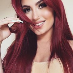 Red Wigs Lace Frontal Wigs Black Hair Turning Red Red Bob Lace Front R – eggplantral Dark Red Hair, Red Hair Color, Magenta Red Hair, Burgundy Red Hair, Black Hair, Red Color, Red Hair No Bleach, Pelo Color Vino, Pretty Hairstyles