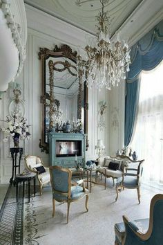 20 beautiful french country living room decor ideas french country decorating, furniture, home decor French Living Rooms, Victorian Living Room, French Country Living Room, French Country Decorating, Country French, Modern Living, Country Farmhouse, Romantic Living Room, Country Porches