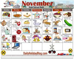november calendar holidays - This calendar ideas suggestions was add at by november calen Silly Holidays, December Holidays, Random Holidays, December Daily, Unusual Holidays, Everyday Holidays, Special Day Calendar, November Calendar, National Days