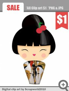 kokeshi_doll_clipart_cherry
