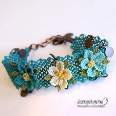 oya needle made lace bracelet