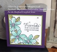 Stampin Up UK Demonstrator Simplyfairies: Colour Me Subtle with Garden in Bloom Stampin Up Set
