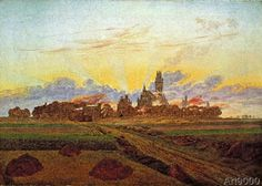 Caspar David Friedrich - Sunrise near Neubrandenburg