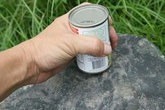 Survival Friday: How to Open a Can Without a Can Opener
